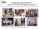 professional development wsu tc t l 523 the nature of science