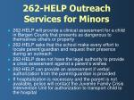 262 help outreach services for minors