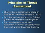 principles of threat assessment