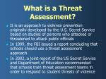 what is a threat assessment
