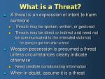 what is a threat
