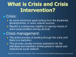 what is crisis and crisis intervention