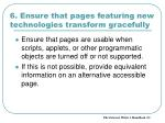 6 ensure that pages featuring new technologies transform gracefully1
