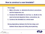 how to construct a new timetable