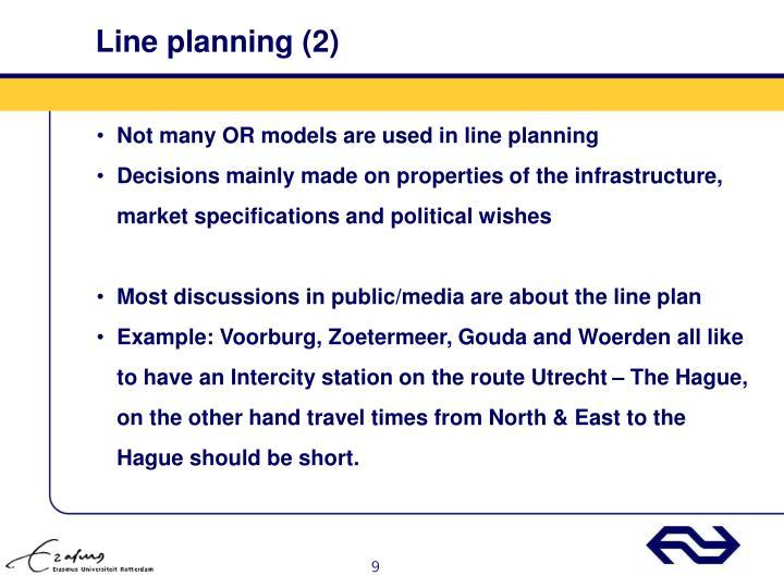 Line planning (2)