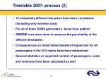 timetable 2007 process 2
