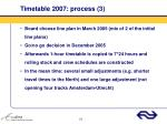 timetable 2007 process 3