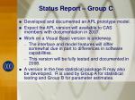 status report group c