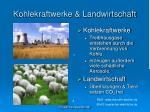 kohlekraftwerke landwirtschaft