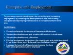 enterprise and employment