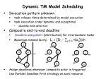 dynamic tm model scheduling