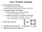 static tm model scheduling