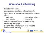 more about etwinning