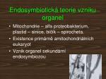endosymbiotick teorie vzniku organel