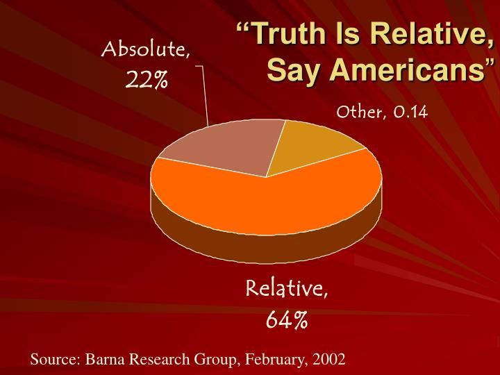 truth is absolute not relative by Is truth relative or absolute is there such a thing as universal and objective truth can any group or individual honestly say they possess the truth the notion that truth is relative presents one of the most significant challenges facing the church.