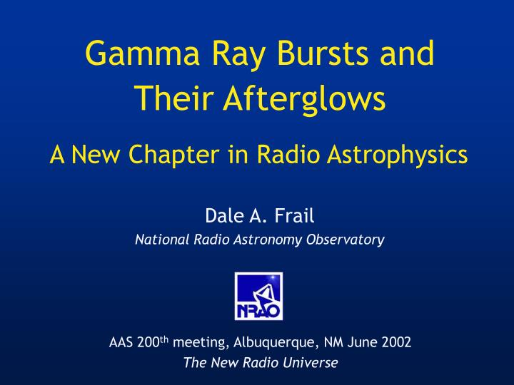 a new chapter in radio astrophysics n.