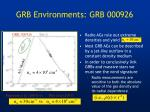 grb environments grb 000926