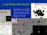 x ray radio dark bursts