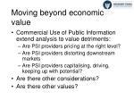 moving beyond economic value