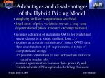 advantages and disadvantages of the hybrid pricing model