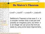 de moivre s theorem