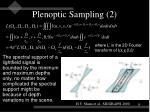 plenoptic sampling 2