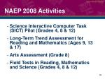 naep 2008 activities