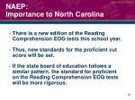 naep importance to north carolina2