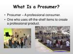 what is a prosumer