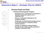 chairman s report strategic plan for 2005 63