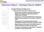 chairman s report strategic plan for 2005 64