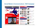 social media in communications raf campaign