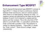 enhancement type mosfet