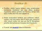 predikat p
