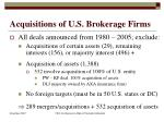 acquisitions of u s brokerage firms