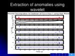 extraction of anomalies using wavelet