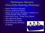 performance measures from delta modeling workshop1
