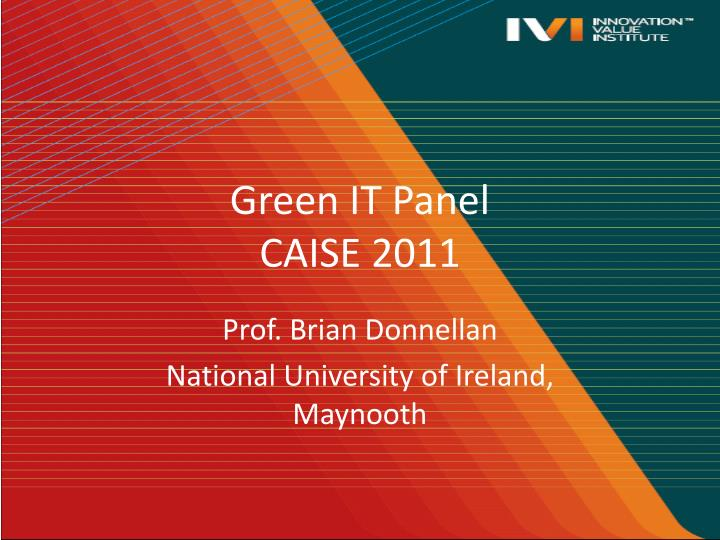 green it panel caise 2011 n.
