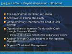 famous players acquisition rationale