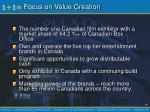 focus on value creation