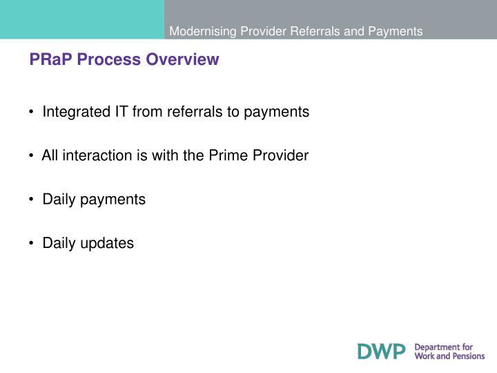 PRaP Process Overview
