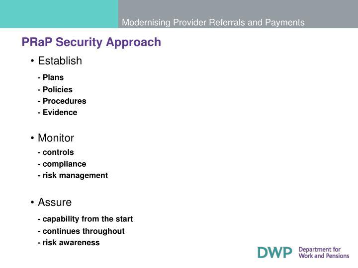 PRaP Security Approach