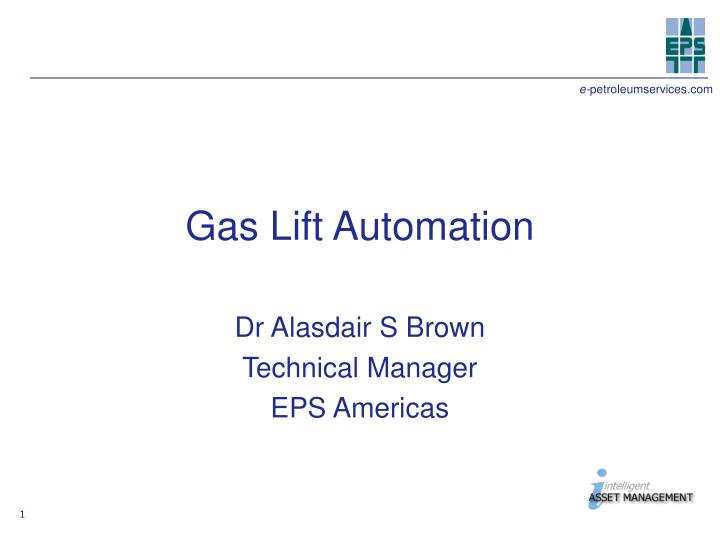 gas lift automation n.