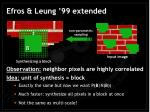 efros leung 99 extended