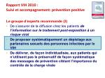 rapport vih 2010 suivi et accompagnement pr vention positive