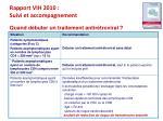 rapport vih 2010 suivi et accompagnement