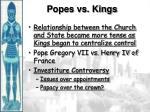 popes vs kings