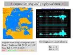 a conjunction map and geophysical data a