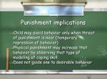 punishment implications