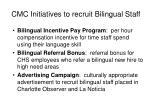 cmc initiatives to recruit bilingual staff